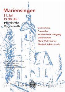 Plakat Mariensingen 2013