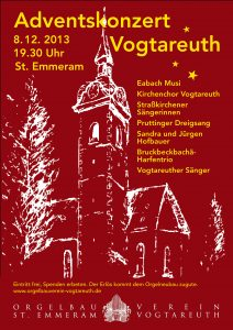 Plakat zum Adventssingen 2013