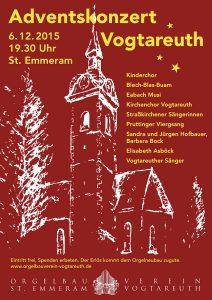 Plakat Adventskonzert 2015