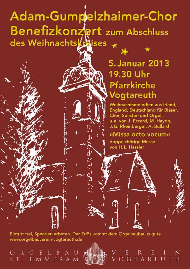 Plakat zum Dreikönigskonzert 2013