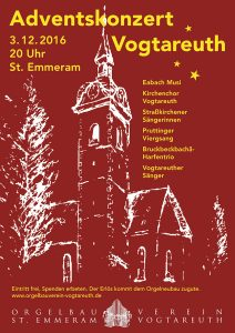 Plakat Adventskonzert 2016