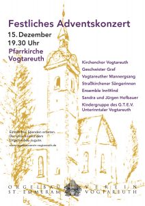 Plakat Adventskonzert 2015